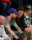 David Beckham chatted with Maroon 5's, Adam Levine.