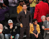 Tobey Maguire was into the Lakers action.