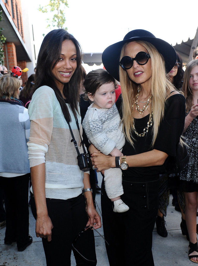Rachel Zoe, Skyler Berman, and Zoe Saldana at the John Varvatos Stuart House benefit.