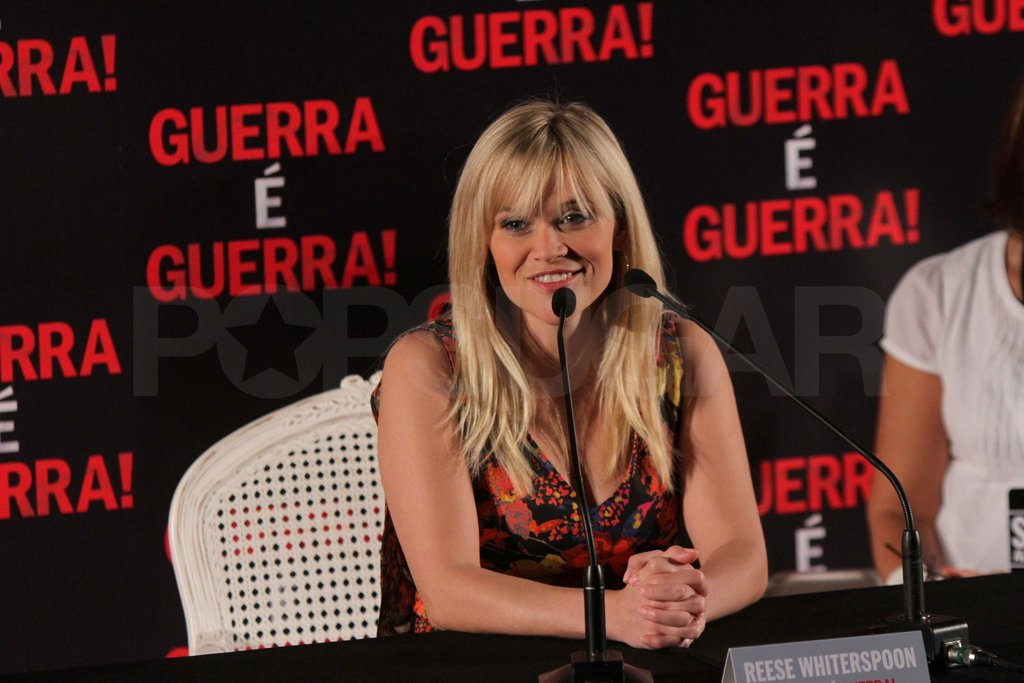 Reese Witherspoon was at a press conference in Brazil.