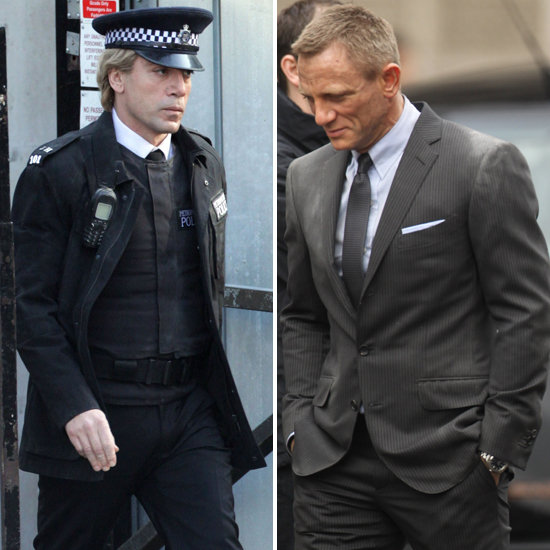 Daniel Craig and Javier Bardem Get in Character to Work on Bond