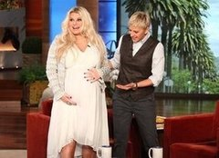 "Video: Jessica Simpson Talks Contractions but Still Has ""Some Weeks"" Before Baby"