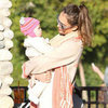Jessica Alba Park Pictures With Daughters Haven and Honor