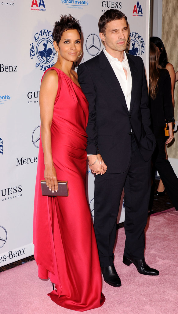 Halle Berry and Olivier Martinez posed at the October 2010 Carousel of Hope Ball in LA.