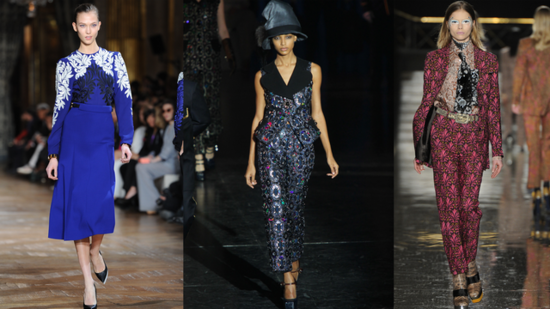 See All the Pretty Textural Prints From Paris Fashion Week