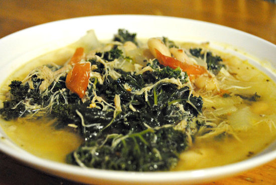 Spicy Kale, White Bean and Chicken Soup