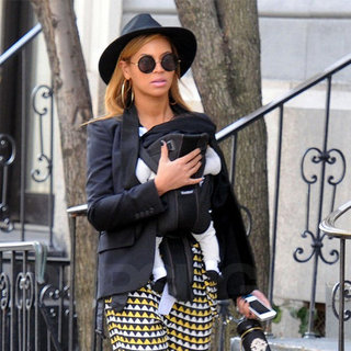 Beyonce Black and Yellow Print Pants