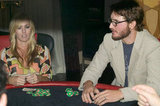 Peter Facinelli and Jennie Garth played poker together at an LA bash during Oct. of 2004.