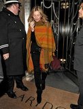 Kate Moss steps out in London.