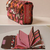 Pink and Orange Print Envelope Carrier