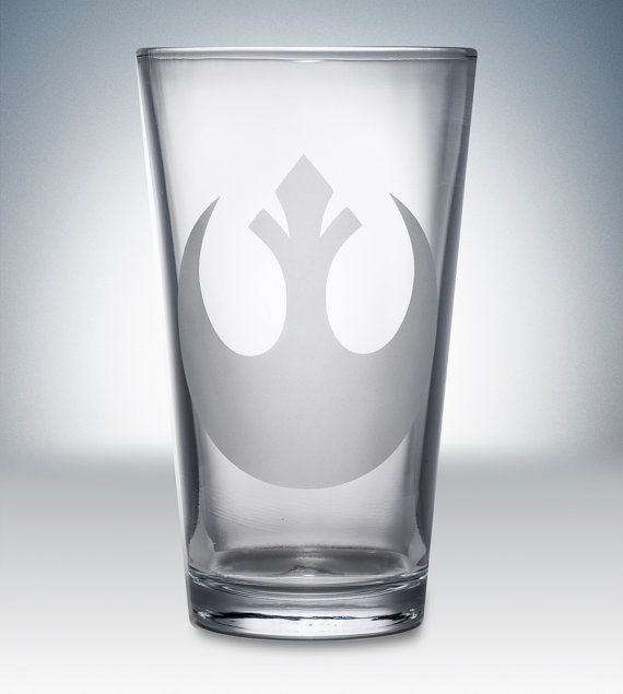 Star Wars Rebel Logo Pint Glass ($12)