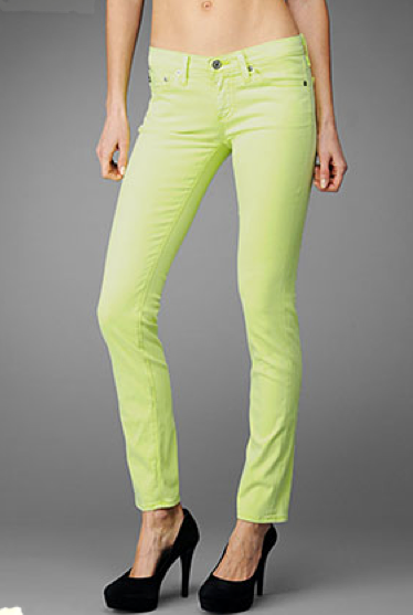 Weekend Brights: Colored Denim