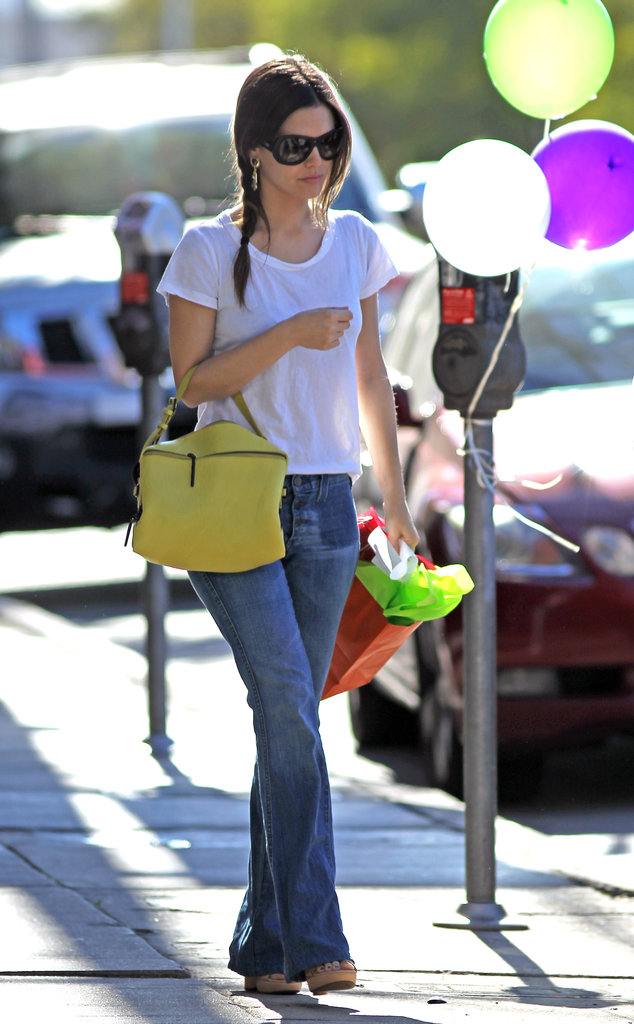 Rachel Bilson perfected Spring casual in a white tee and easy flares.  4897142