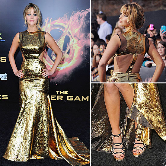 Jennifer Lawrence's Super Sexy Gold Prabal Gurung Gown at the Hunger Games LA Premiere: See It From All the Angles!