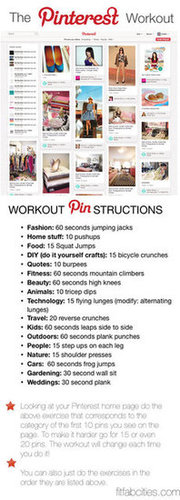 The Printable Pinterest Workout