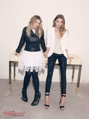 Rosie Huntington-Whiteley with stylist Cher Coulter in The Hollywood Reporter.
