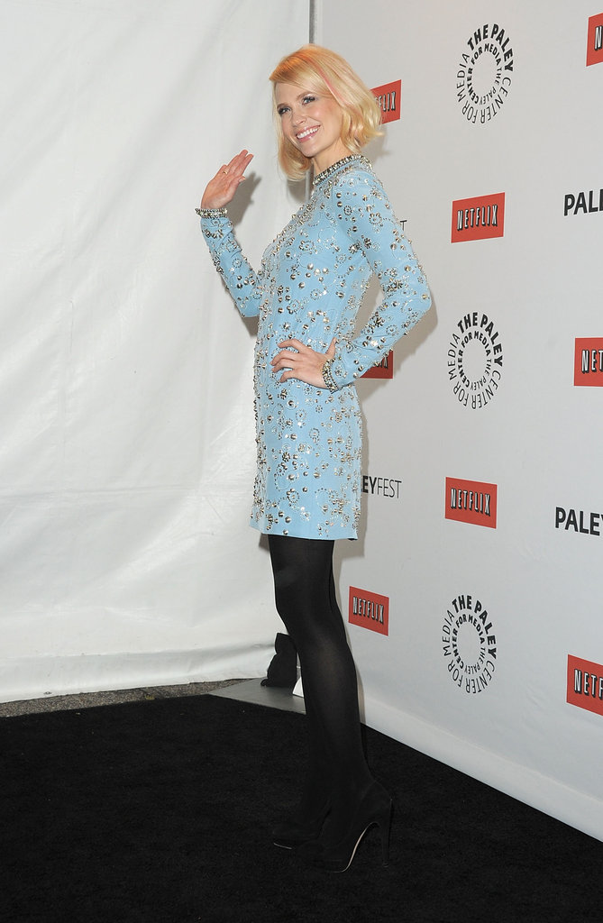 January Jones wore Jenny Packham at PaleyFest.