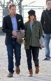 Drew Barrymore and Will Kopelman take a walk in Paris.