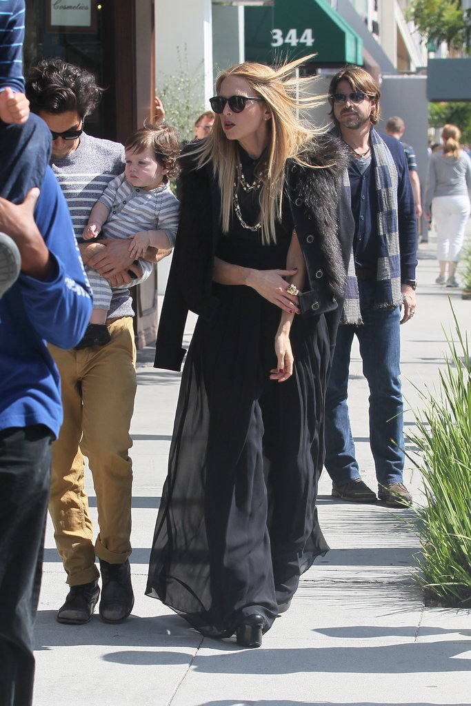 Rachel Zoe layered up on a cloudy LA day.
