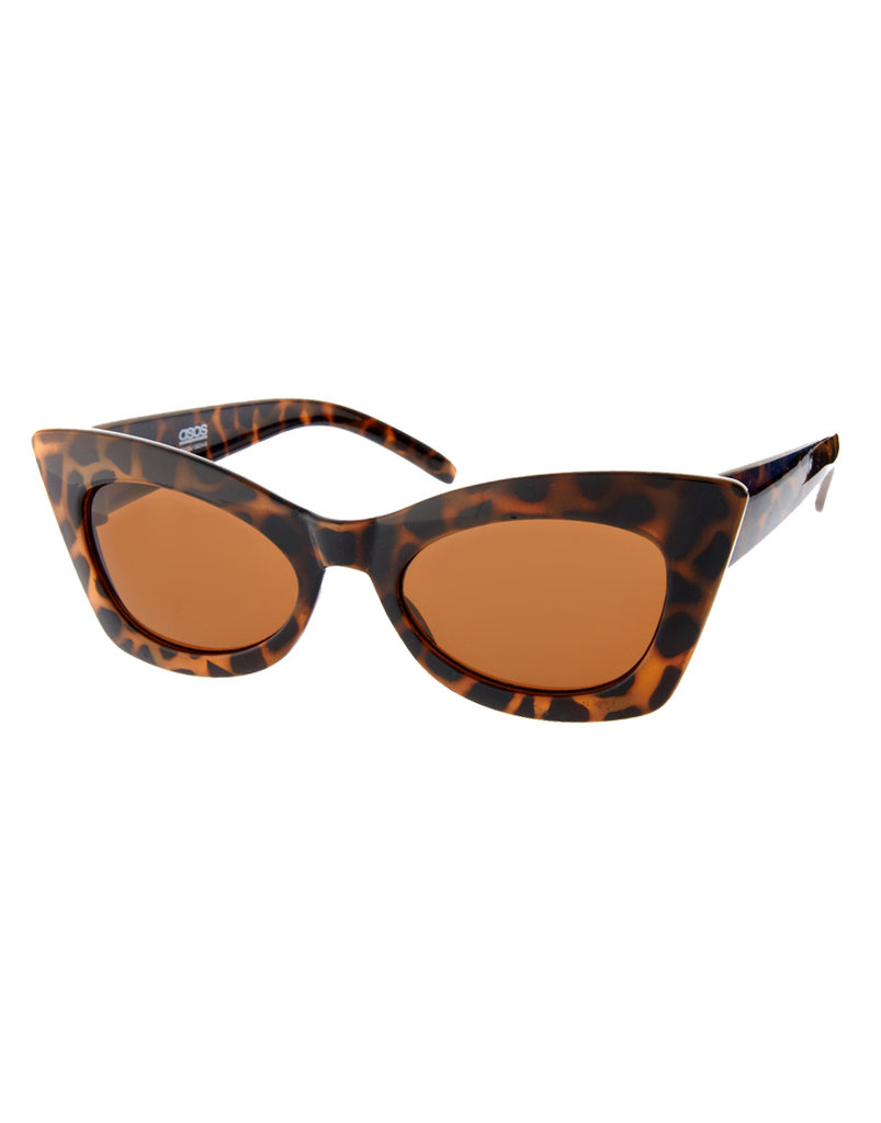 Cat-eye sunglasses look so chic and retro; wear these and you'll instantly feel like Brigitte Bardot in the French Riviera.  Asos Cat Eye Sunglasses ($21)