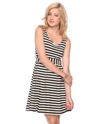 We're loving this nautical-chic striped dress.  Forever 21 Seaside Stripes Dress ($25)