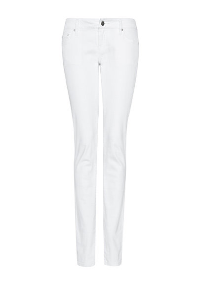 Crisp white denim always makes a big statement for Spring.  Mango Low-Waist Jeans ($50)