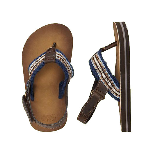 Gap Striped Ankle Flip Flops ($17)