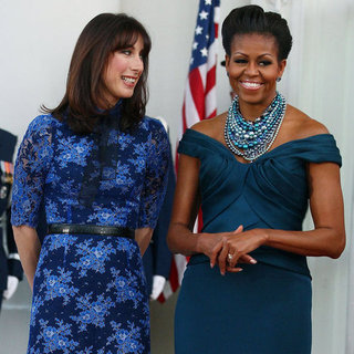 Michelle Obama and Samantha Cameron State Dinner
