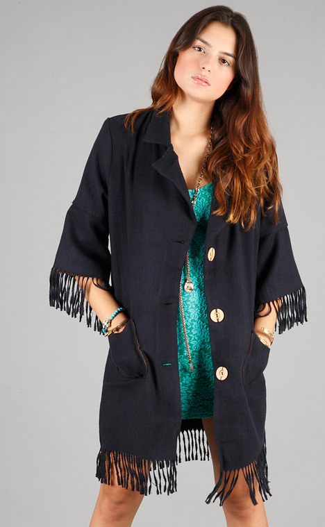 Holly Mountain fringe coat ($218)