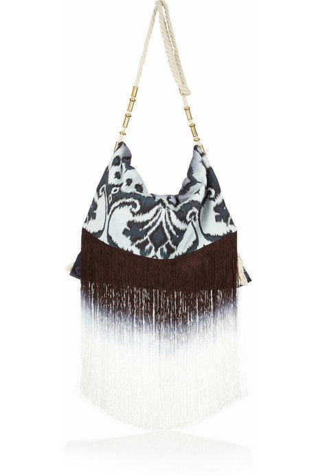 Matthew Williamson Fringed Ikat-Print Shoulder Bag ($750)