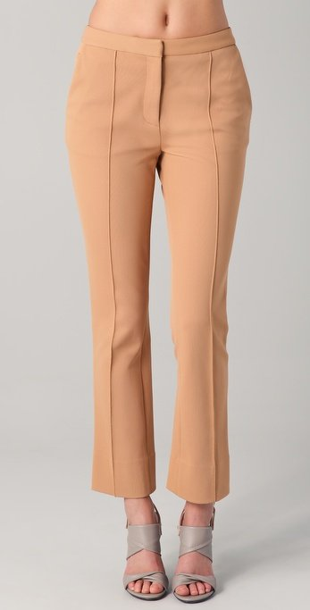 Pair these seamed trousers with a white blouse for a chic, work-appropriate look.  Diane Von Furstenberg Dezzie Pants ($325)