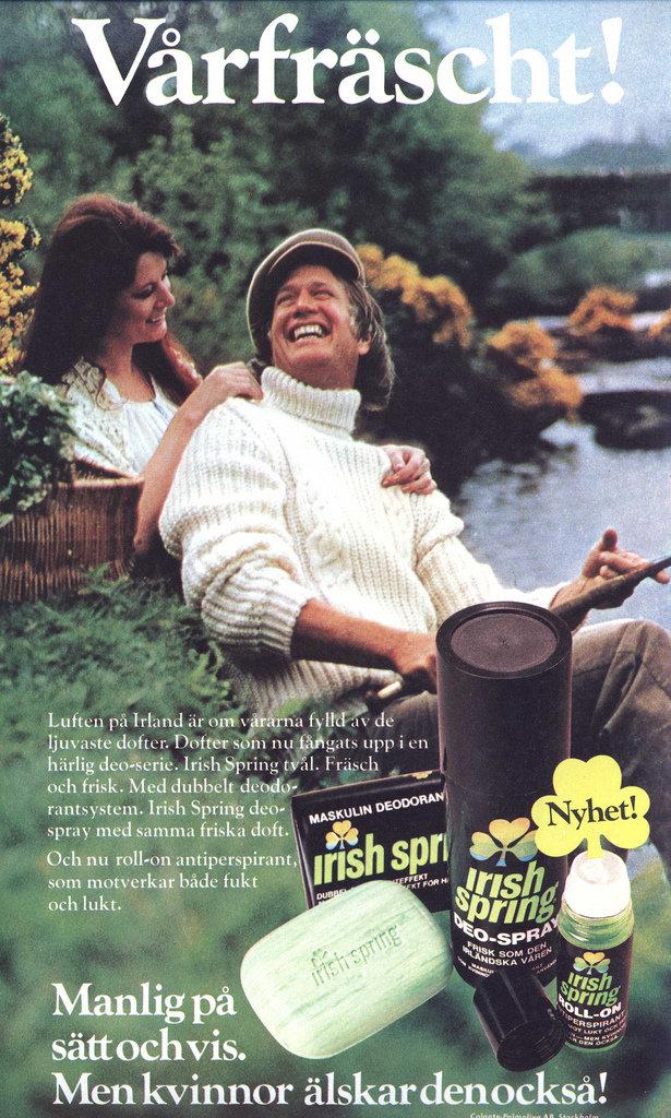 Get clean the Irish way with Irish Spring soap.