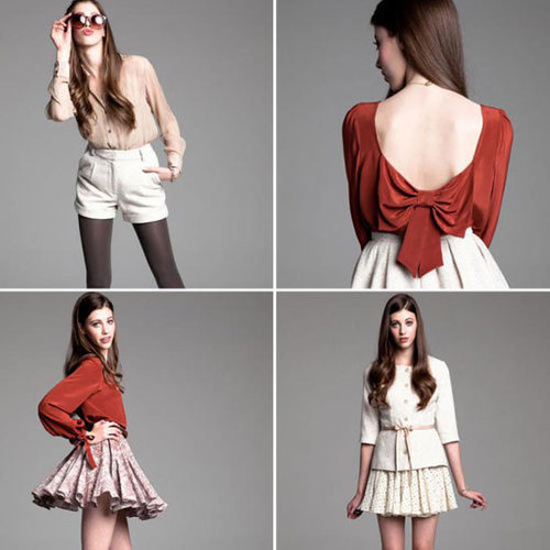 Lauren Conrad's Paper Crown Autumn Winter 2012 Look Book in Full! Bow-backed tops, maxi dresses and more!