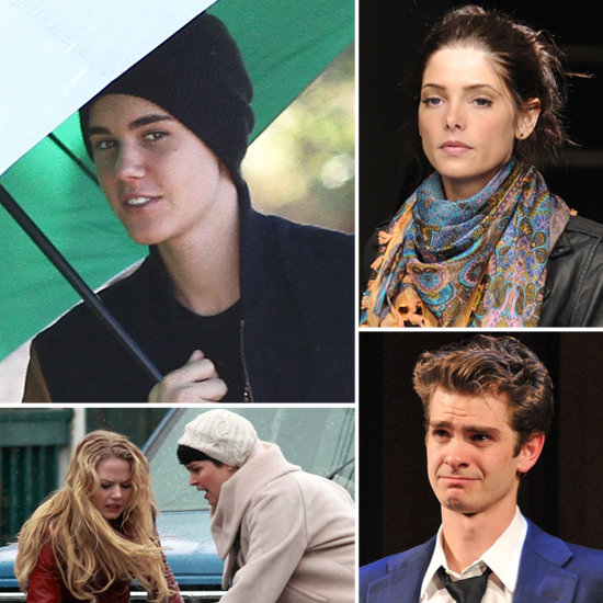 Justin Bieber, Andrew Garfield, and More Stars on Set!