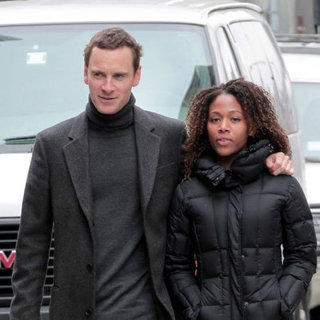 Michael Fassbender and Nicole Beharie PDA Pictures
