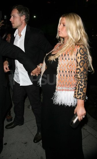 Jessica Simpson and Eric Johnson having dinner in LA.