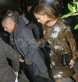 J Lo and Casper Smart dined at Ago in West Hollywood.