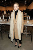 Ashley Olsen looked impeccably polished in a camel coat and pointed-toe pumps.