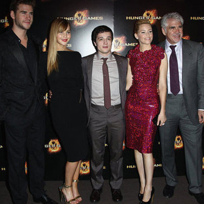 Jennifer Lawrence Pictures in Sexy Tom Ford Dress Promoting The Hunger Games in Paris