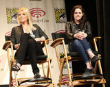 Charlize Theron with Kristen Stewart were at WonderCon 2012.