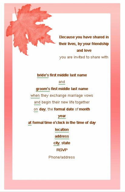 Marriage Invitation Sample Email Sample Wedding Invitation Email – Marriage Invitation Mail Format