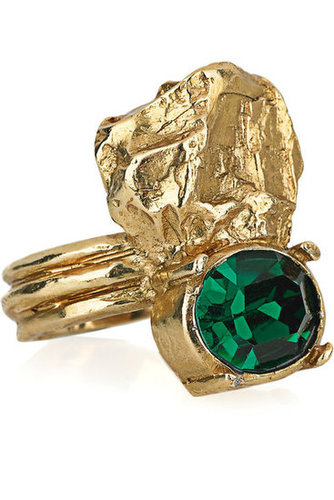 Yves Saint Laurent | Arty Too gold-plated Swarovski crystal ring | NET-A-PORTER.COM