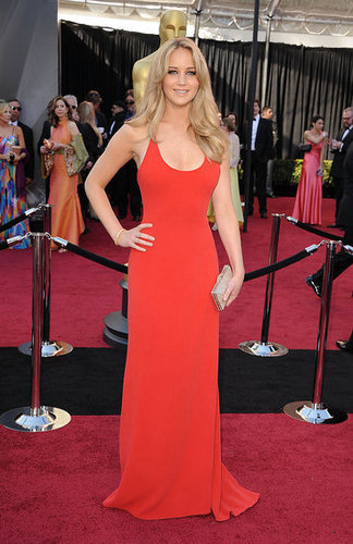 Jennifer Lawrence is Red Hot in Calvin Klein