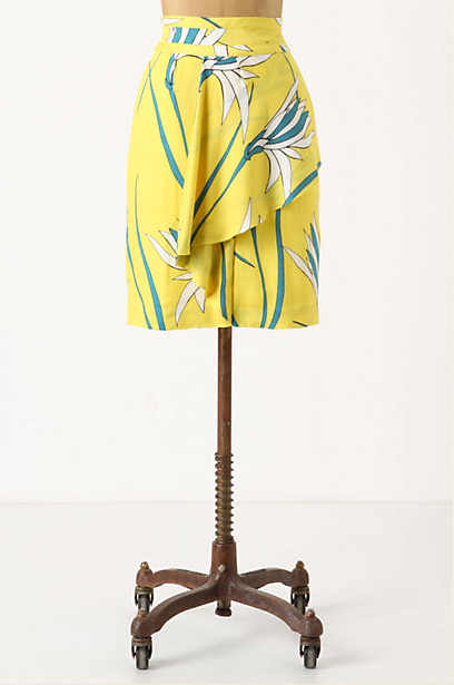 We adore the bright, cheery print and slight peplum detail.  Sariah by Sariah Carson Birds of Paradise Skirt ($128)