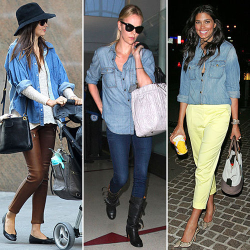 Celebrities Wearing Denim Button-Downs