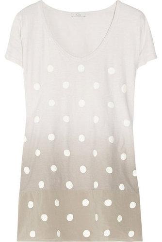 CLU Ombré polka-dot cotton-jersey T-shirt NET-A-PORTER.COM