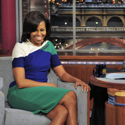 Michelle Obama Almost Cries on Letterman