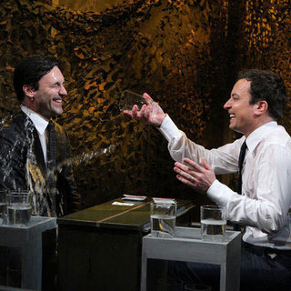 Jon Hamm Jimmy Fallon Water Fight