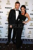 David and Victoria Get Fancy in Black Tie to Honor Their Friend Marc Anthony