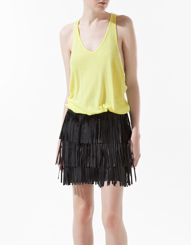 Keep it simple with an airy tank in a striking neon yellow hue. Zara Oversized Tank Top ($10)